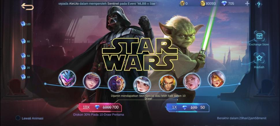 Event kolaborasi Mobile Legends x Star Wars. (HiTekno.com))